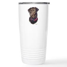 Funny Labrador retriever famous painting Travel Mug