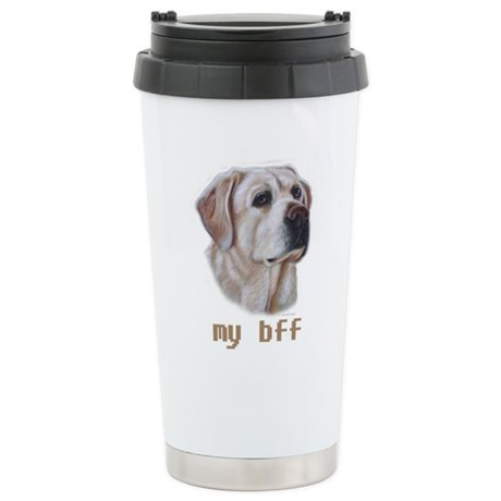 MY BFF Yellow Lab Stainless Steel Travel Mug