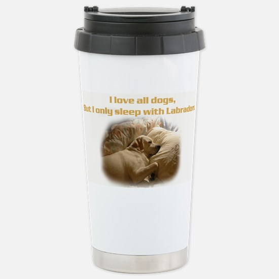 Custom Photo Labrador Stainless Steel Travel Mug