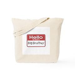Hello Big Brother Tote Bag