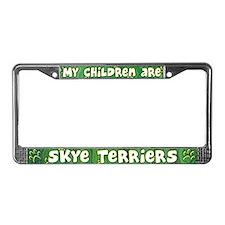 My Children Skye Terrier License Plate Frame