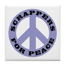 Scrappers For Peace Tile Coaster