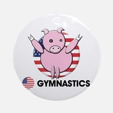 gymnastics Ornament (Round)