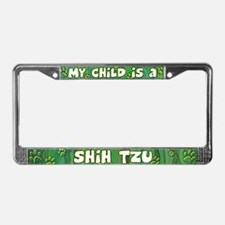 My Kid Shih Tzu License Plate Frame