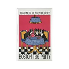 Boston Buddies Boston Tea Par Rectangle Magnet (10