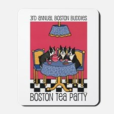 Boston Buddies Boston Tea Par Mousepad