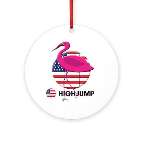 high jump Ornament (Round)