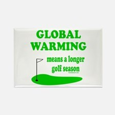GOLFING Rectangle Magnet