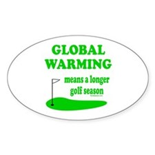 GOLFING Oval Decal