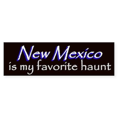 New Mexico Haunt Bumper Sticker - Blue