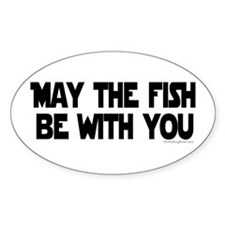 Fish Force Oval Bumper Stickers
