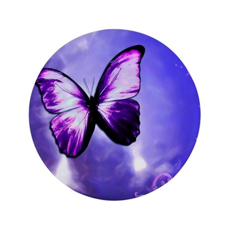 """Purple Butterfly 3.5"""" Button (100 pack)"""