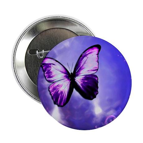 """Purple Butterfly 2.25"""" Button"""