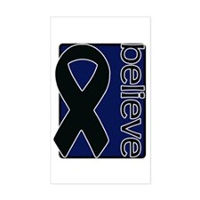 Navy Blue (Believe) Ribbon Rectangle Decal