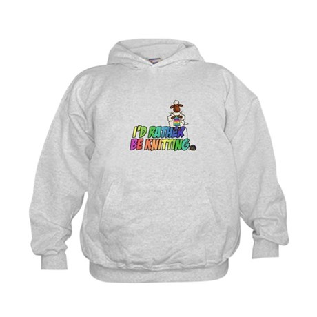 I'd rather be knitting Kids Hoodie