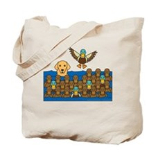 Golden and Ducks Tote Bag