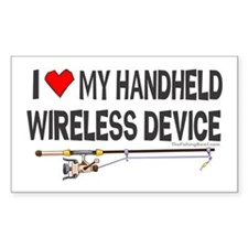 Handheld Fishing Device Rectangle Decal