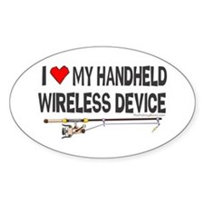 Handheld Fishing Device Oval Decal