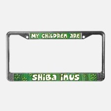 My Children Shiba Inu License Plate Frame