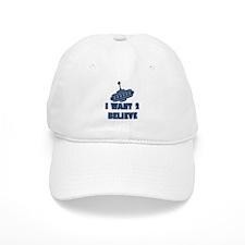 I Want 2 Believe UFO 9 Baseball Baseball Cap