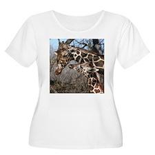Giraffe Mom and Kid T-Shirt