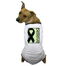Light Green (Believe) Ribbon Dog T-Shirt