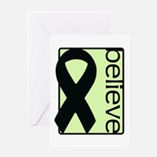 Light Green (Believe) Ribbon Greeting Card