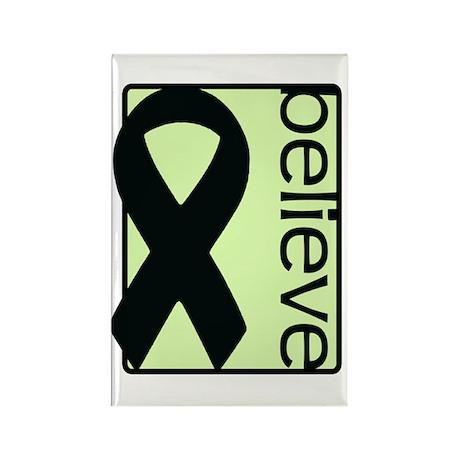 Light Green (Believe) Ribbon Rectangle Magnet (100