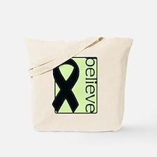 Light Green (Believe) Ribbon Tote Bag