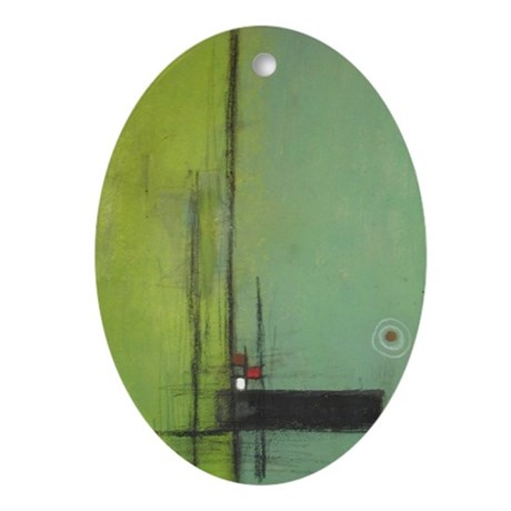 Integrity Abstract Oval Ornament
