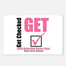 Get Checked Breast Cancer Postcards (Package of 8)