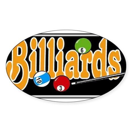 Billiards Oval Sticker (50 pk)