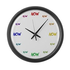 Now Large Wall Clock