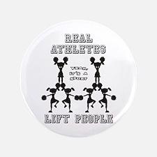 "Athletes - Cheer 3.5"" Button"