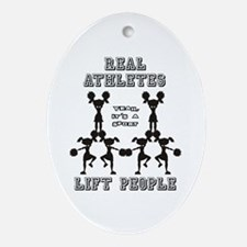 Athletes - Cheer Oval Ornament