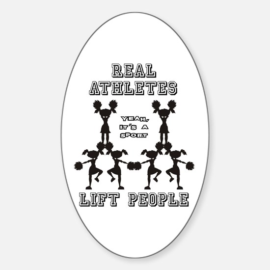 Athletes - Cheer Oval Decal