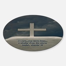 Cross in the Storm Oval Decal