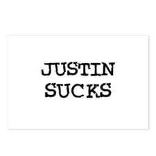 Justin Sucks Postcards (Package of 8)