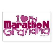 I Love My Marathon Grandma Rectangle Decal