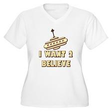 I Want 2 Believe UFO 16 T-Shirt