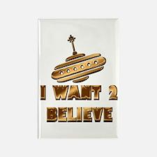 I Want 2 Believe UFO 19 Rectangle Magnet
