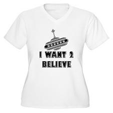 I Want 2 Believe UFO 18 T-Shirt