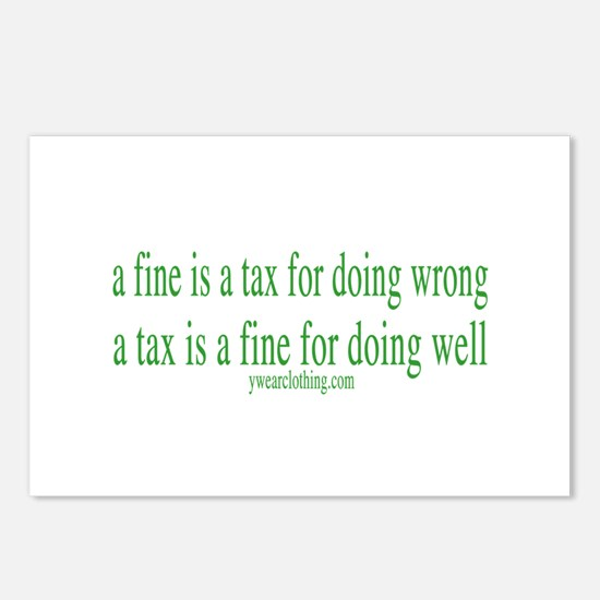 A Fine Tax Postcards (Package of 8)