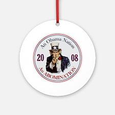 Obama Nation Ornament (Round)