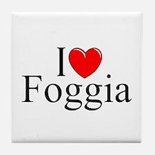 """""""I Love (Heart) Foggia"""" Tile Coaster"""