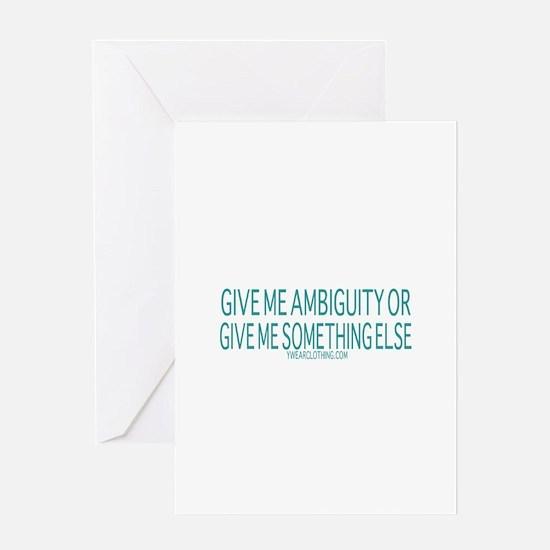 Ambiguity Greeting Card