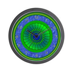 Blue & Green Wall Clock
