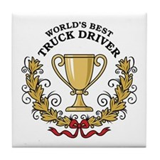 World's Best Truck Driver Tile Coaster