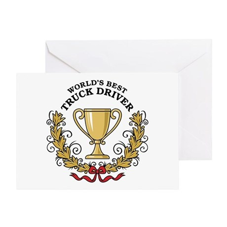 World's Best Truck Driver Greeting Card