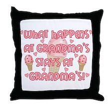 What happens at Grandma's Throw Pillow